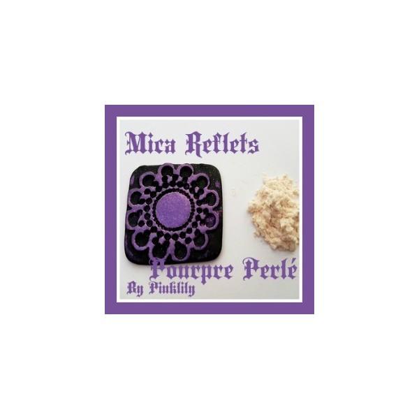 Mica Reflets Pourpre Perlé