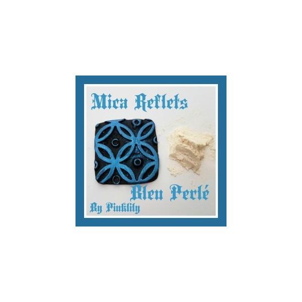 Mica Reflets Bleu Perlé