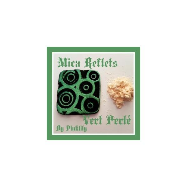 Mica Reflets Vert Perlé