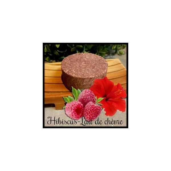 Shampoing Solide:Hibiscus-Lait de chèvre
